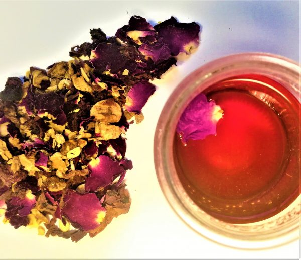 Infusion Echappée belle gingembre, rose, coquelicot, pomme