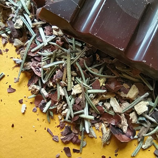 infusion cacao gourmande tisane romarin gingembre réglisse épices